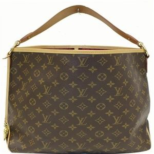 LOUIS VUITTON Delightful Tote Shoulder Bag Brown